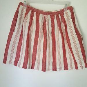 Madewell striped Mini Skirt